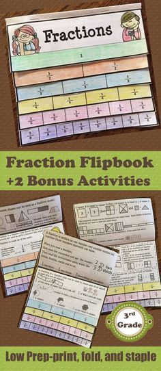 My passion is to create high quality products that are easy to use and engaging for students. This Fractions Grade Flipbook is packed full of important concepts and skills to encourage a deeper understanding of fractions. Teaching Strategies, Teaching Tools, Elementary Education, Upper Elementary, Teacher Evaluation, Texas Teacher, Primary Resources, Third Grade Math, Fractions