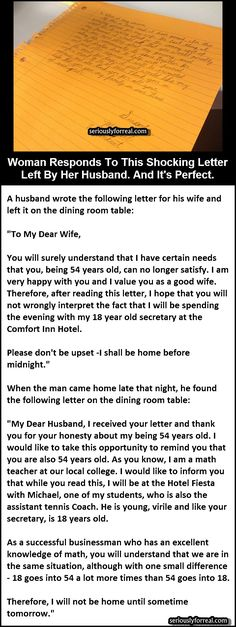 Woman Responds To This Shocking Letter Left By Her Husband ... VICTORY! - Seriously, For Real?Seriously, For Real?
