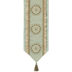 Fortune Table Runner with Braid and Tassels by Jennifer Taylor. $209.00. 2794-657591658 Features: -Material: 100pct Polyester cover.-Braid and tassels.-Traditional.-Home furnishing brings classic style and luxurious comfort to the home.