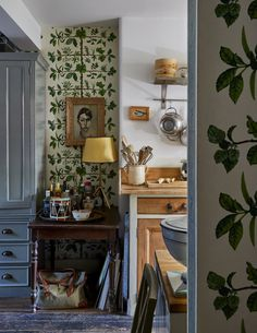 wallpaper home decor Gavin Houghton, On Wallpaper, The World of Interiors, Painted Floors, Jack Russells - and Darren. - Bible of British Taste % Decor, Home Decor Accessories, World Of Interiors, Interior, Painted Floors, Cheap Home Decor, Home Decor, House Interior, Interiors Magazine