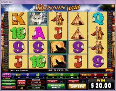 Runnin' Wild Slots - This huge 50 payline online slot machine from Amuzi Gaming expands the gaming screen to include four reel positions as opposed to the usual 3x5 grid for a five reel slot. Runnin' Wild Slots features stacked wild and other symbols on the reels to boost players' chances of winning every spin.