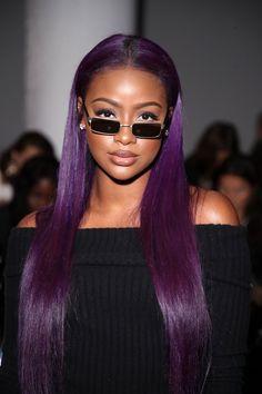 Hair Dye Colors, Ombre Hair Color, Cool Hair Color, Hair Color For Dark Skin Tone, Colors For Dark Skin, Hair Color Ideas For Dark Hair, Hair Ideas, Purple Hair Black Girl, Curly Hair Styles