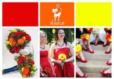 Sunshine Wedding Colour Inspiration Board - Red, Orange, Yellow By Designcat