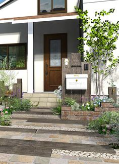 Garden Entrance, House Entrance, Garage Doors, Shed, New Homes, Exterior, Landscape, Architecture, Outdoor Decor
