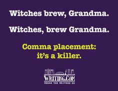 Poster created by WritingCom. Writing Posters, Writing Tips, Grammar Rules, English Fun, School Bulletin Boards, Witches Brew, First Story, Anxiety Relief, Punctuation