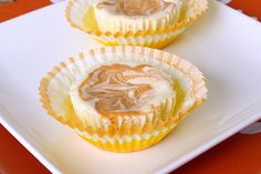 Tracey's Culinary Adventures: Pumpkin Swirl Mini Cheesecakes