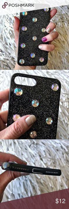 HP NEW iPhone 7/8 Plus Jeweled Soft TPU Case ▪️Fits iPhone 7 or 8 Plus Model    ▪️High Quality Soft TPU - Thick & Shock-Resistant     ▪️Same or Next Business Day Shipping ! Accessories Phone Cases