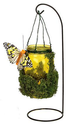 Nicole™ Crafts Small Yellow Mason Jar Garden Light #craft #masonjar