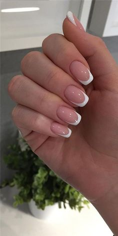 French Manicure Acrylic Nails, French Manicure Nail Designs, Simple Acrylic Nails, Best Acrylic Nails, Acrylic Nail Designs, Nail Manicure, Nails Design, Coffin Nails, Manicure Ideas