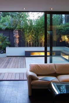 Extend small interior to the outside with flooring..and double your space..great lighting.. easy charm: