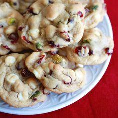 White Chocolate Cranberry Pistachio Cookies.  daringgourmet.com