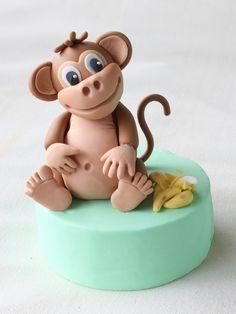 Como modelar  un mono con fondant y pasta de goma