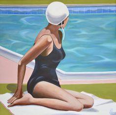 Bather after Kenton Nelson, Leigh Hoffmann