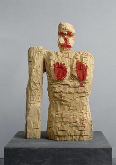 Madame Paganisme, by Georg Baselitz Louise Bourgeois, Art Sculpture, Plastic Art, Art Moderne, Land Art, Museum Of Modern Art, Installation Art, Ceramic Figures, Art Dolls