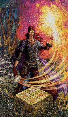 I - Le magicien - Universal Fantasy Tarot par Paolo Martinello The Magicians, The Magician Tarot, Astro Tarot, Dylan Dog, Le Tarot, Types Of Magic, Tarot Major Arcana, Angel Cards, Oracle Cards