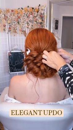 Bun Hairstyles For Long Hair, Braided Hairstyles, Wedding Hairstyles, Hairdo For Long Hair, Hair Scarf Styles, Hair Up Styles, Aesthetic Hair, Hair Videos, Hair Designs