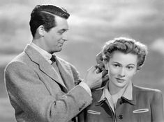 "Cary Grant and Joan Fontaine - Suspicion  I love it when he calls her ""monkey face"":)"