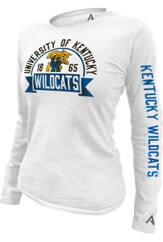 KNIGHTS APPAREL INC : University of Kentucky Wildcats 1865 Women's Slim Fit Long Sleeve T-Shirt : University of Kentucky Bookstore