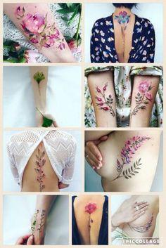 Tafly butterfly purple floral body art waterproof flower temporary tattoo t Foot Tattoos, Flower Tattoos, Body Art Tattoos, Small Tattoos, Sleeve Tattoos, Tatoos, Trendy Tattoos, Tattoos For Guys, Tattoos For Women