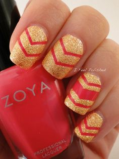 Chevron Nails   #nails #nailart #Zoya #polish - bellashoot.com