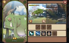 Screenshot_2015-10-18-00-27-49 Game Ui Design, Icon Design, Game Assets, Character Sheet, Game App, Mobile Game, Anime Style, Concept Art, Layout