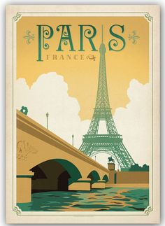 Vintage Paris poster