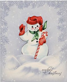 The Sum Of All Crafts: There's No Man Like A Snowman  Loads slow worth the wait! Great blog for all kinds of vintage images!