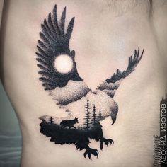 Eagle Back Tattoo, Eagle Wing Tattoos, Eagle Chest Tattoo, Wing Tattoo Men, Wolf Tattoos Men, Daddy Tattoos, Wolf Tattoo Sleeve, Best Sleeve Tattoos, Viking Tattoos