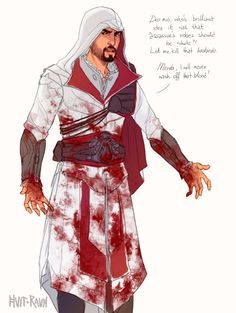 Who designed this robe white? That me kill that bastard. Shit, I'll never got to wash of my blood!