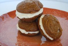 Gingerbread Whoopie Pies. Perfect for Fall