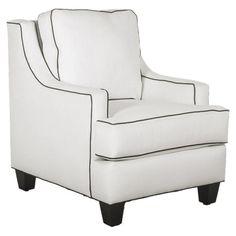 Quinn Lounge Chair in White & Black