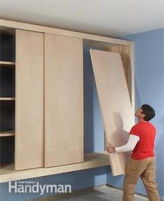 This is a Garage Cabinet, but I wonder if the basic process could be adapted for a bedroom closet?