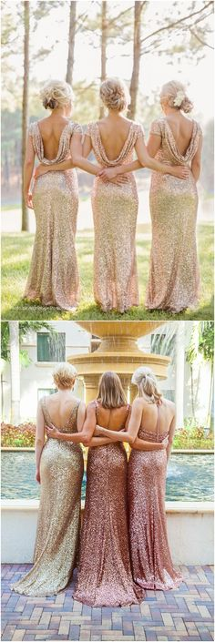 2018 Wedding Trends – Sequined and Metallic Bridesmaid Dresses Glittery Bridesmaid Dresses Wedding Pics, Trendy Wedding, Fall Wedding, Dream Wedding, Wedding Things, Wedding Stuff, Mauve Wedding, Wedding Colors, Metallic Bridesmaid Dresses
