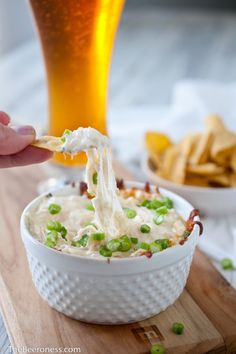 Roasted Garlic and Parmesan Beer Cheese Dip - The Beeroness