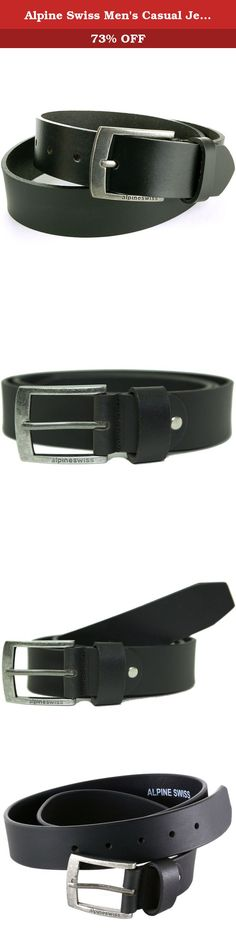 CU7 Mens Real Genuine Leather Belt Black Brown White 1.5 Wide S-XL Casual Jeans