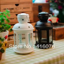 European Vintage Style Wedding Lantern Glass Metal Candle Holder Wedding Gift New Fashion C1018(China (Mainland))