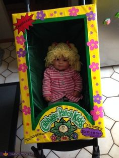 Patch Doll in Box - Halloween Costume Contest at Costume- Izabella will only be three months come Halloween. I'll have to remember this!Izabella will only be three months come Halloween. I'll have to remember this! Funny Kid Halloween Costumes, Funny Baby Costumes, Halloween Costume Contest, First Halloween, Family Halloween, Diy Halloween, Costume Ideas, Awesome Costumes, Cabbage Patch Kids Costume