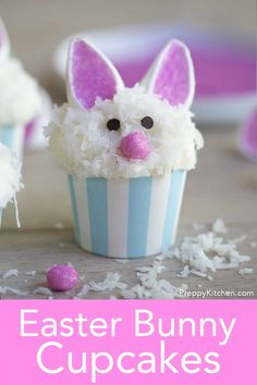 These delightful Easter bunny cupcakes from Preppy Kitchen will hop right into your hand bringing all the springtime cheer with them! They're easy to make and totally delicious, how could you say. Easter Bunny Cupcakes, Easter Cake, Fun Desserts, Easter Desserts, Easter Food, Camping Cakes, Brownie In A Mug, Easter Dinner Recipes, Holiday Cupcakes