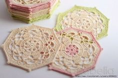 Octagon – crochet coaster pattern. More Great Patterns Like This