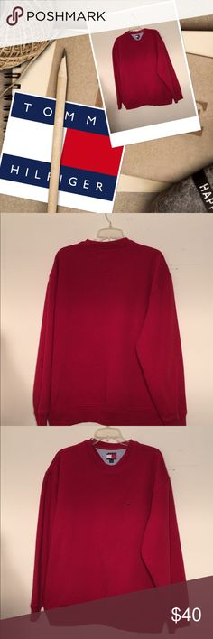 """Men's Tommy Hilfiger sweatshirt Excellent condition  26.75"""" long 23"""" arms 46"""" bust 80% cotton 20% polyester  No fading like new  Nonsmoker seller  20% off 3 or more items Tommy Hilfiger Shirts Sweatshirts & Hoodies"""