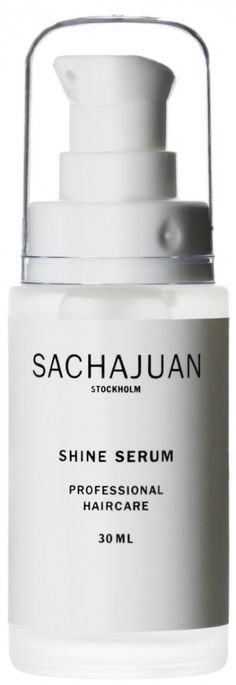 "$30    Sachajuan Shine Serum  1 fl oz.    Sachajuan Shine Serum is a protecting and repairing care for damaged ends. It gives a deep shine and a protective finish.    ""With its unique ocean silk technology, this pro line of hair care is its homeland's mane secret."""