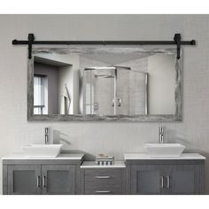 Bathroom ideas, bathroom renovation, bathroom decor and master bathroom organization! Bathrooms may be beautiful too! From claw-foot tubs to shiny fixtures, these are the master bathroom that inspire me probably the most. Bathroom Organization, Bathroom Storage, Bathroom Interior, Bathroom Cabinets, Bathroom Vanity Mirrors, Wall Mirrors, Bathroom Cleaning, Framing Mirrors, Farmhouse Bathroom Mirrors