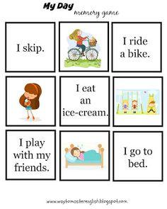 Funglish: My daily routine - memory game