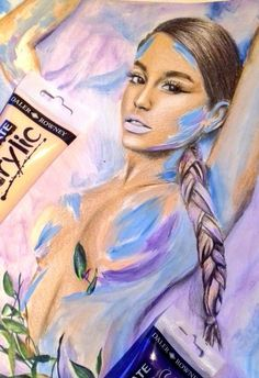 Drawing/painting of Ariana Grande God Is A Woman Sweetener image 0 Pencil Drawings, My Drawings, Ariana Grande Drawings, Beautiful Owl, Paper Dimensions, Colored Pencils, Disney Characters, Fictional Characters, God