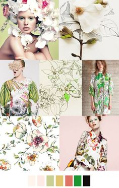 Botanical bouquet inspiration. Mellow, soft, feminine. #colorswatches