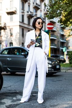 Street style à la Fashion Week printemps-été 2018 de MilanCrédit photo : Sandra Semburg