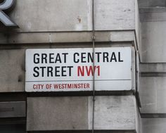 Adrian Frutiger's Univers typeface is used for London street signs. Photograph by Anders Sandberg