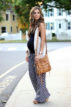 Printed Pants and Crochet Fringe