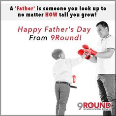 "Happy Father's Day From 9Round!  We want to give a SPECIAL shout-out today to ALL of our 9Rounders who are fathers!    Life is hectic and the fact that these amazing guys are able to work hard to provide for their family AND make time for their health and fitness is SO important!    They are taking care of themselves so that they can take care of the ones who ""look up"" to them AND be an inspiration in the process!  Gloves off to these AMAZING Fathers!  They deserve it!  #9Round #FathersDay"