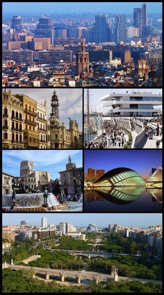 Valencia, Spain montage